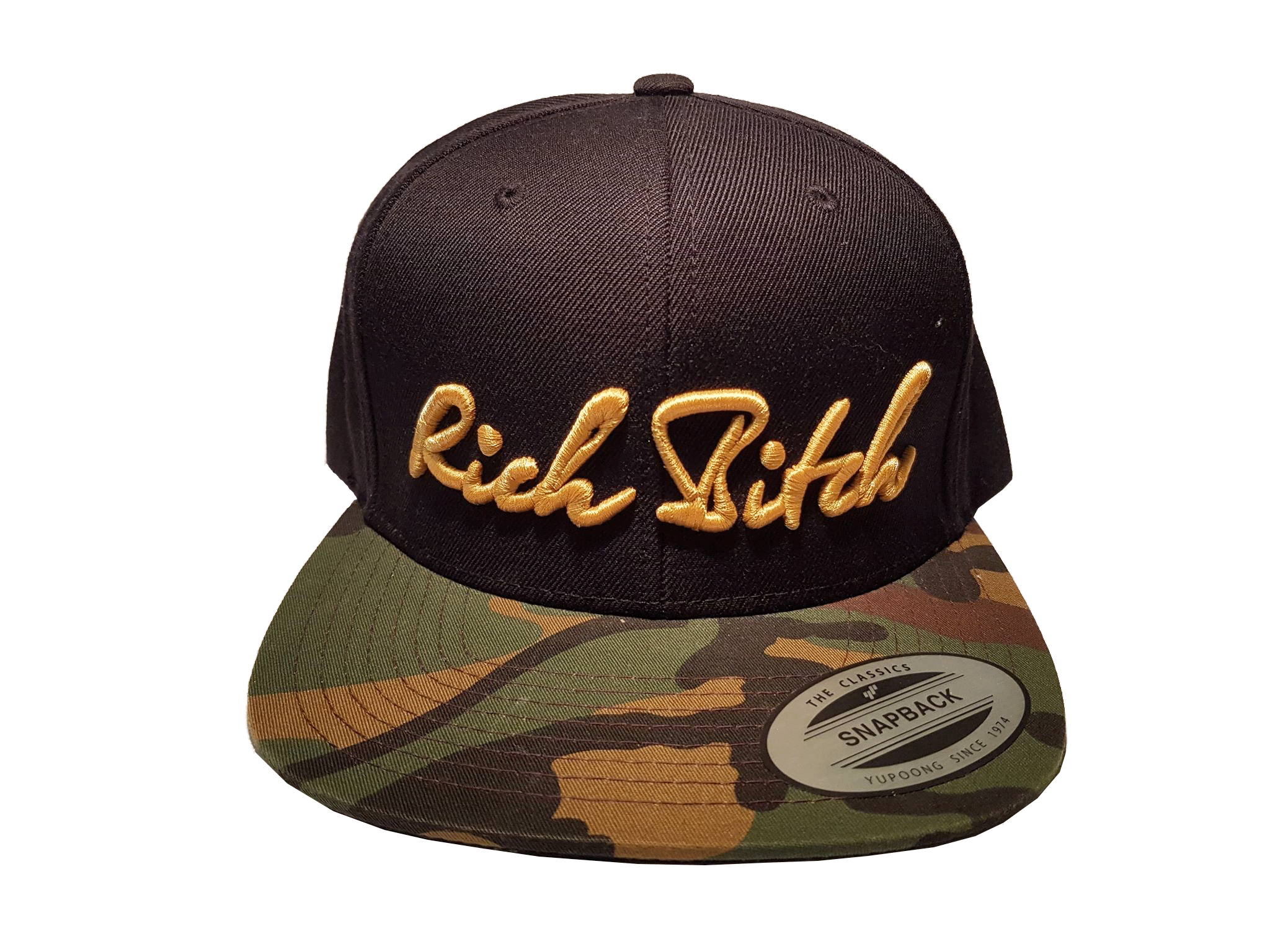 RICH BITCH snapback army cap